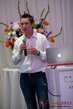 Chas McFeely (CEO of HuookChasUp.com) at iDate2011 Los Angeles