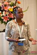 Robinne Burrell (Vice President at Match.com) at the 2011 Online Dating Industry Conference in Los Angeles