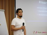 Miguel Espinoza (Developer @ PHPFox) at the 35th iDate2013 Germany convention