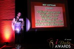 Maria Avgitidis announcing the Best Dating Software and SAAS at the 2013 iDateAwards Ceremony in Las Vegas held in Las Vegas