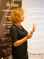Mary Balfour CEO And Managing Director Of Drawing Down The Moon  at the October 14-16, 2015 conference and expo for online dating and matchmaking in London