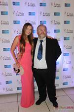 Media Wall Svetlana Mukha and Wayne May at the 2016 Internet Dating Industry Awards in Miami