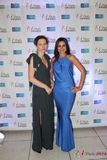 Media Wall Lena Bay and Natalia Jorgenson in Miami at the January 26, 2016 Internet Dating Industry Awards